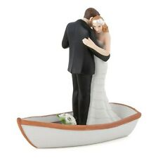 """""""Row Away"""" Wedding Couple in Rowboat Cake Topper HAIR CUSTOMIZATION Party Event"""