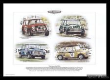 Mini Cooper Monte Carlo Rally British Saloon Car Print