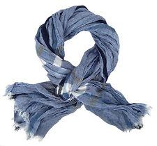 Herrenschal blau weiß by Ella Jonte breiter weicher Fashion Schal Viskose new in