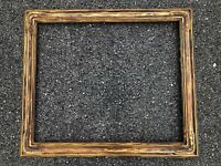 ANTIQUE Signed NEWCOMB MACKLIN HAND CARVED ARTS & CRAFTS FRAME, FITS 25X30""