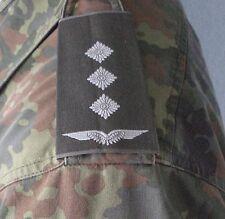NEU! Schulterklappen Hauptmann Luftwaffe weiß - Bw Dienstgrad Rang Abzeichen