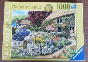 JIGSAW Ravensburger 1000 Piece Puzzle THE DRY STONE WALL Checked COMPLETE