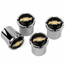 Chevrolet BOWTIE Logo Tire Valve Stem Caps  MADE IN USA - Chevy GOLD
