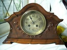 More details for handsome antique mahogany french chiming  mantle clock-couaillet freres c1900