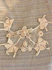 Antique Victorian French Dolls Handmade Dimensional IRISH Lace Collar