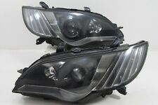 RARE JDM Subaru Legacy BPE BP5 BL5 LATE MODEL HID BLACK Headlights Lights 06-07