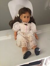 "Adorable 21""Vinyl & Cloth Girl Doll Gotz Modell Brown Sleep Eyes"