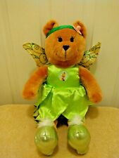 """Disney Designed for Toys R Us Tinkerbell Dress with Wings 18"""" Plush Bear EUC"""