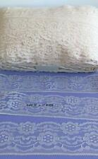 """Lace Trim 3"""" Wide 8 yards Natural Beige Ivory Flowers Sewing Flat Crafts Lot 35"""