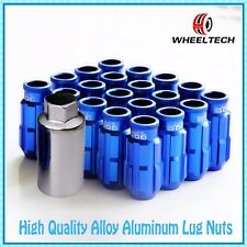20PCS Blue Aluminum tuner M12x1.5 50mm for Ford FIESTA FOCUS more Wheel Lug Nuts