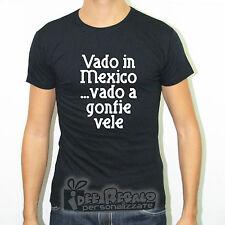 TSHIRT SLIM FIT MAGLIETTA VADO IN MEXICO VADO A GONFIE VELE MUSICA VASCO COCA IN