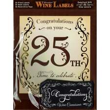 Mulberry Studios Personalised Wine Label  - 25th - NEW - WL092