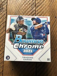 Topps 2021 Bowman Chrome Hobby LITE Box - 5 Parallels Per Box From Sealed Case