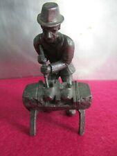 Zinn Figur Berufe, Schuhmacher, Daalderop Holland, Holz Clogs Hersteller