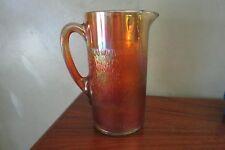 Jeanette Glass Tree Bark Marigold 64 oz pitcher