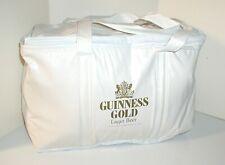 VINTAGE GUINNESS GOLD LAGER BEER WHITE INSULATED VINYL SOFT COOLER BAG W/HANDLE