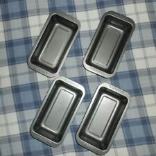 Set of 4Non-Stick Loaf Tins, 1.5 lbs Bread Making Baking GBBO New