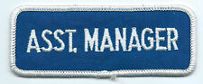 Asst Manager patch 1-1/2 X 4 #113