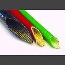 SILICONE RIVESTITI vetro fibra GUAINA temperatura elevata 18mm foro x 1 m Nero