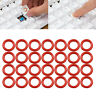 120 x Rubber Red O-Ring Dampers Key Cap Switch Mechanical Keyboard For Cherry