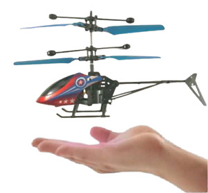 Mini Infrared Sensor Flying Helicopter Captain America Toy Induction for Kids