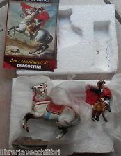 IL PRIMO CONSOLE SUL GRAN SAN BERNARDO Miniatura quadro di David su Napoleone di