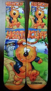 Custom Heathcliff socks  gamma galaxy bred sport blue lighting