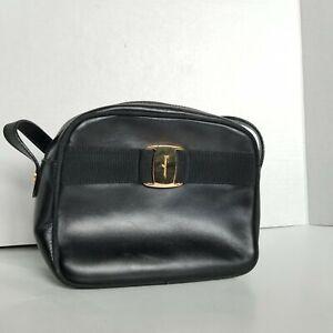 Salvatore Ferragamo Vara Camera Women's Leather Shoulder Bag Purse D213096 VTG