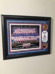 New York Giants SuperBowl XLVI Champions 24 Karat Gold Coins 160/5000 Photo WS26