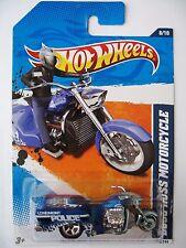 Hot Wheels BOSS HOSS MOTORCYCLE - Blue variant 2011 HW Main Street police bike