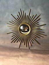 Glace / miroir soleil à aiguilles avec oeil de  sorcière Diam 46,5 cm