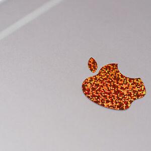 Orange Glitter Color Changer Overlay for Apple iPhone X Logo Vinyl Decal