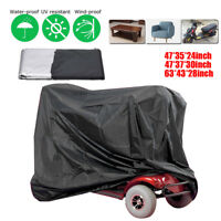 3 Size Mobility Scooter Storage Cover Rain Waterproof UV Protector w/Lock Rope