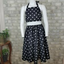 Womens Dress Size XS Black White Polka Dot 50s Costume Theater Forum Novelties