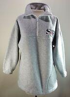 Vintage T-SHIRT FEVER S Small Gray San Francisco Fleece Jacket Pockets 1/4 Zip