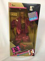 "1991 Mattel MC HAMMER DOLL 12"" with original purple outfit Glasses, & Cassette"