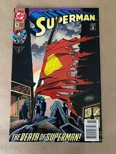 Superman #75 (1993) Death Of Superman 1st Print Direct Cover MINT CGC IT!