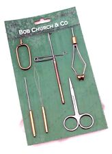 Bob Church Standard Fly Tying Tool Kit for Trout Bass Salmon pike fishing Flies