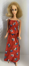 Vintage BARBIE Doll - Best Buy #7205 Red Floral Cotton Top & Maxi Skirt 1975