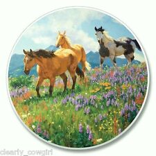 #8309 - HIGHLAND GRAPHICS WESTERN WILD HORSES ABSORBENT AUTO COASTER