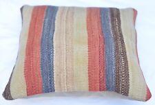 Anatolian Pillow, Home Decor Kilim Pillow Case, Turkish Pillowcase, 16''x 16''