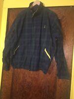 Vintage Chaps Ralph Lauren Full Zip Plaid Men's Cotton Jacket Coat Large L A1