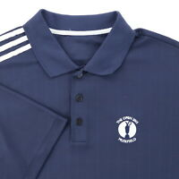 """Adidas The Open 2013 Muirfield Men Large 46"""" Golf Polo Shirt Navy Blue Polyester"""