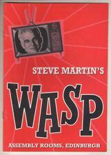 "Steve Martin  ""Wasp""  Playbill  1997  Edinburgh, Scotland   Guy Masterson"
