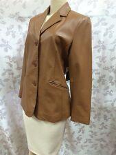NWT - Pelle Nova Di Riviera - Leather Jacket - Sheepskin - Taylored Seams - Sz L