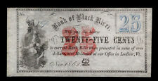 1862 25c CENTS BANK OF BLACK RIVER OBSOLETE BANK NOTE **UNCIRCULATED** #6975