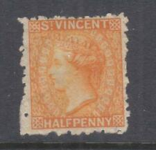 St. VINCENT, 1881 QV, 1/2d. Orange, mint no gum.