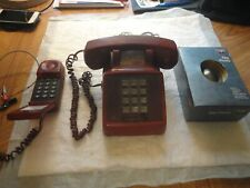 vintage phones desk red phone serviceman phone discovery store egg phone