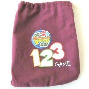 Milton Bradley Go Diego Go Game Replacement Token Bag 2006 Dark Purple Maroon