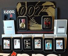 Zippo James Bond 007 Sean Connery Lot of 8 Card Stand-up Display Org Tins Sleeve